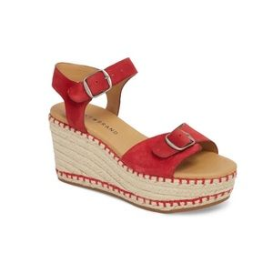 Lucky Brand Red Naveah Espadrille Sandals size 8